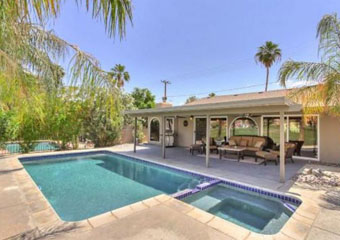 pet friendly vacation rental in indian wells, dog friendly rental in indian wells california